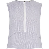 River Island Womens Lilac contrast tank top