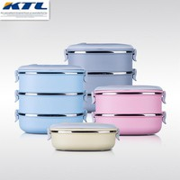 KuBac Container For Food Storage Box Thermal School LunchBox Stainless Steel Japanese Bento Lunch Boxs Portable Picnic