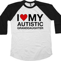 Autism Grandpa Shirt Grandma T Shirt Aspergers TShirt Autism Awareness Day Month Puzzle Piece Autistic Support Raglan Baseball Tee - SA1044