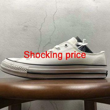 Discount Unisex Converse All Star Low 100 Colors OX White Black shoe