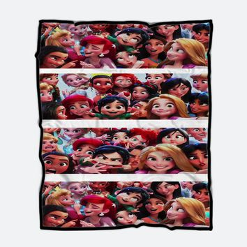 Custom Flace blanket Vanellope with Princess Wreck It Ralph 2