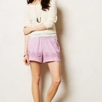 Embroidered Linen Shorts by Lilka