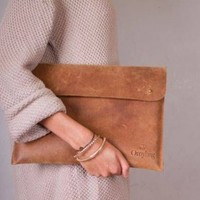 Leather Laptop Sleeve 13