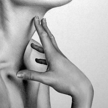 Nude Pencil Drawing Fine Art Signed Print