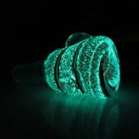14 mm Glass on Glass Bowl - Glow in the Dark Nemo