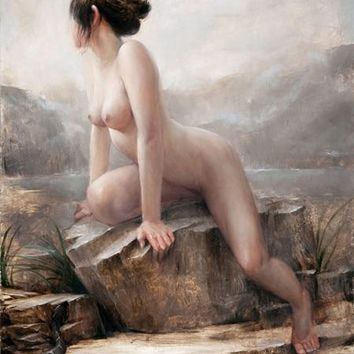 free shipping classical women nude art scenery canvas prints oil painting printed on canvas wall art decoration picture