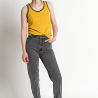 Vintage 80s Faded Gray High Waist Guess Skinny Jeans | 4