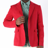 Band of Outsiders SS13 Not a Polo Overdyed Chino Blazer Red - CONTEXT CLOTHING - Free Shipping!