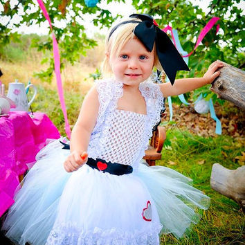 Alice in Wonderland Costume, Alice in Wonderland Tutu, Halloween Costume, Baby Girl Tutu Dress, Alice Tutu, Birthday Tutu, Outfit of Choice