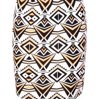 Aaliyah Neon Ikat Mini Skirt