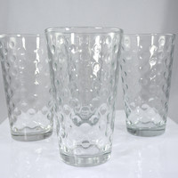 Vintage Style Clear Bubble Glasses Tumblers 16 oz (set of 4)