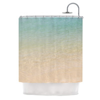 "Catherine McDonald ""Ombre Sea"" Beach Photography Shower Curtain"