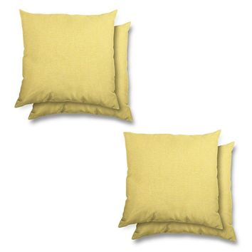 Stratford Home Indoor/ Outdoor Sunbrella Pillows Set (Buttercup)