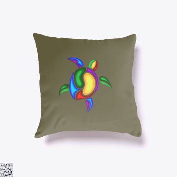 Coloful Turtle, Sea Turtles Throw Pillow Cover