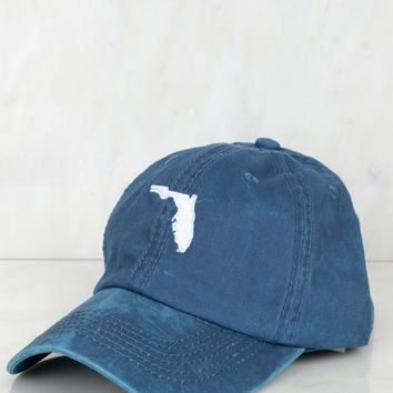 State of Florida Baseball Cap Navy