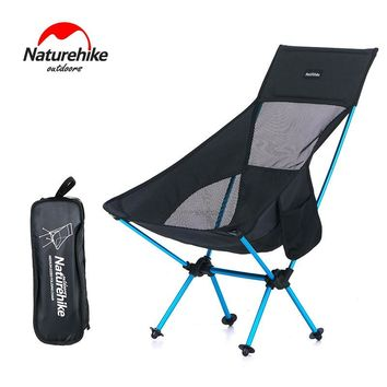 Naturehike Lengthened Portable Moon Chair Seat Folding Outdoor Camping Stool For Picnic BBQ Beach With Bag