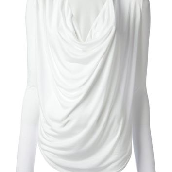Helmut Lang draped cowl neck top