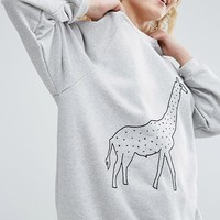 ASOS Made In Kenya Sweat With Embroidered Motif at asos.com