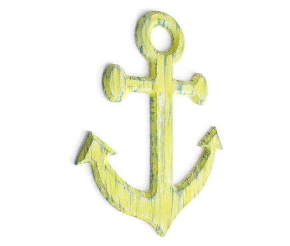 Pale Yellow Wall Decor : Anchor wall art distressed rustic from fischerfinearts home