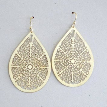 Filigree Teardrop Silver Earrings VtLR3TNk