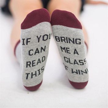 DCCKV2S Uk Unisex IF YOU CAN READ THIS BRING ME A BEER Fashion Socks Cotton Funny Socks