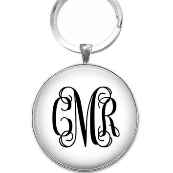 Pendant Keychain, Interlock Monogram