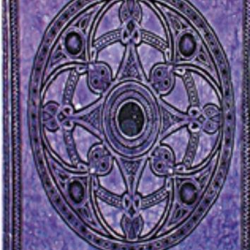 Celtic Circle Purple Vibrant Tapestries Wall Hanging Bohemian Beach blanket Bed Covering Great Gift
