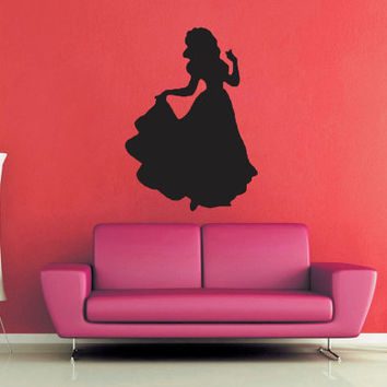 Snow White Silhouette - Wall Decal