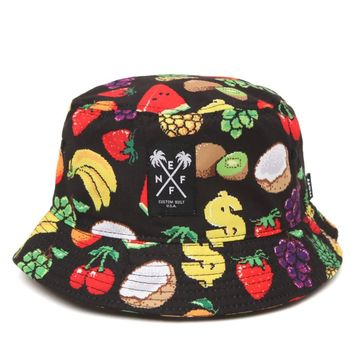 Neff Hard Fruit Bucket Hat - Mens Backpack - Black - One