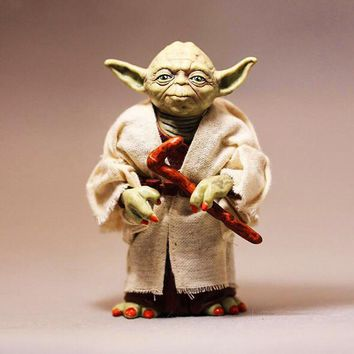 Star Wars Force Episode 1 2 3 4 5  7: The Force Awakens Jedi Knight Master Yoda Action Figure Toys Doll Model AT_72_6