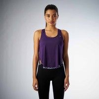 Gymshark Aptitude Cropped Vest - Blackberry