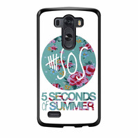 5 Seconds Of Summer Floral Pink LG G3 Case