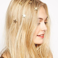 18K Gold Plated Star Hair Pin Bridal Hair Spiral Hair Clip Barrette Stars Pin Hair Accessories