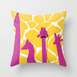 dignified giraffe. Throw Pillow by chl0xe | Society6