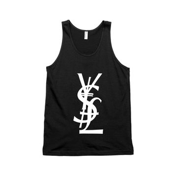 YSL Money Dollar Yen Pound Unisex Tank Top