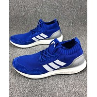 ADIDAS Ultra Boost Mid Knit Vintage Comfortable Sexy Sneakers F-CSXY blue