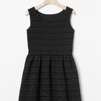 Gap Girls Sparkle Stripe Fit & Flare Dress
