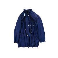 Vintage Navy Blue Parka // Rain Coat