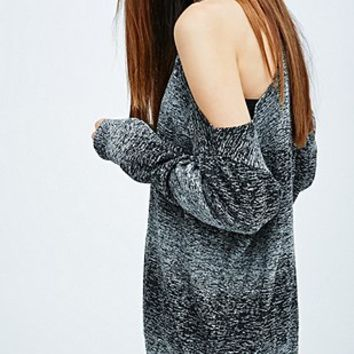 Sparkle & Fade Cold Shoulder Marl Sweatshirt in Grey - Urban Outfitters