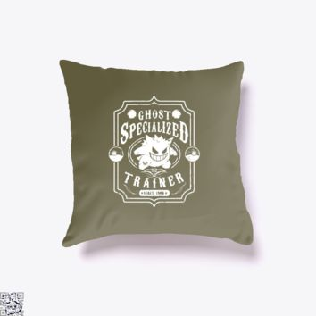 Gangar Ghost Specialized Trainer, Pokemon Throw Pillow Cover