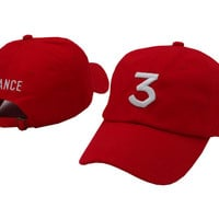 CHANCE 3 HAT  Stereo embroidery peaked cap adjustment cap