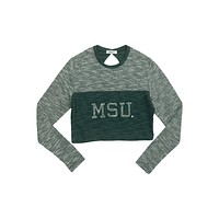 Michigan State University Terry Crop Top