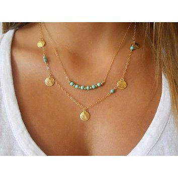 Boho Orion and Skye Double or Triple Layer Necklace