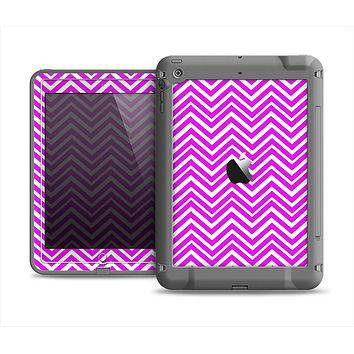 The Hot Pink Thin Sharp Chevron Apple iPad Mini LifeProof Fre Case Skin Set