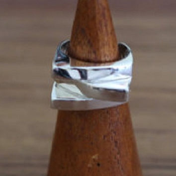 Stunning Sterling Silver Triple Layered Statement Minimalist Ring, Sterling Silver Jewellery, Silver Rings, Statement Jewelry