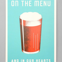 Aesthetic Apparatus Beer On The Menu Art Print