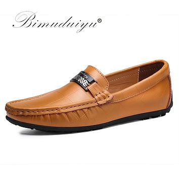 Luxury Shoes Slip On Black Shoes Real Leather Loafers Men Moccasins Shoes New Handmade Casual Shoes For Men