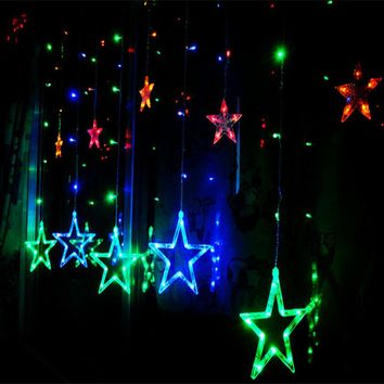 LED Curtain String Holiday Lights
