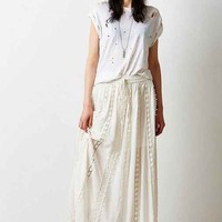 Staring At Stars Gauze Crochet-Mix Maxi Skirt- Cream