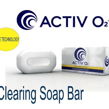 ACTIVO2 Clearing Soap Bar Acne Solution Reduces Blemishes & Existing Scar Eczema